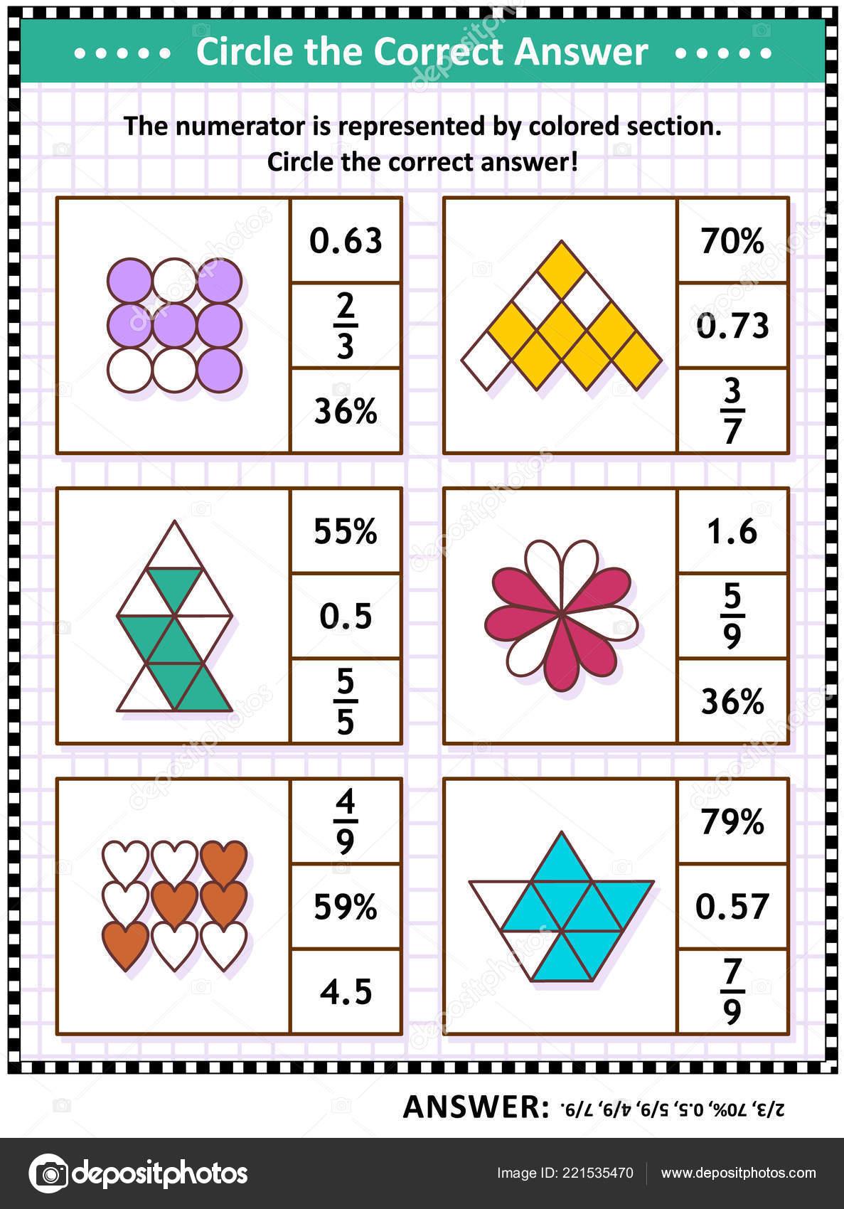 Math Skills Training Visual Puzzle Worksheet Schoolchildren Adults - Worksheet Visual Puzzle