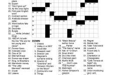 Printable November Crossword Puzzles