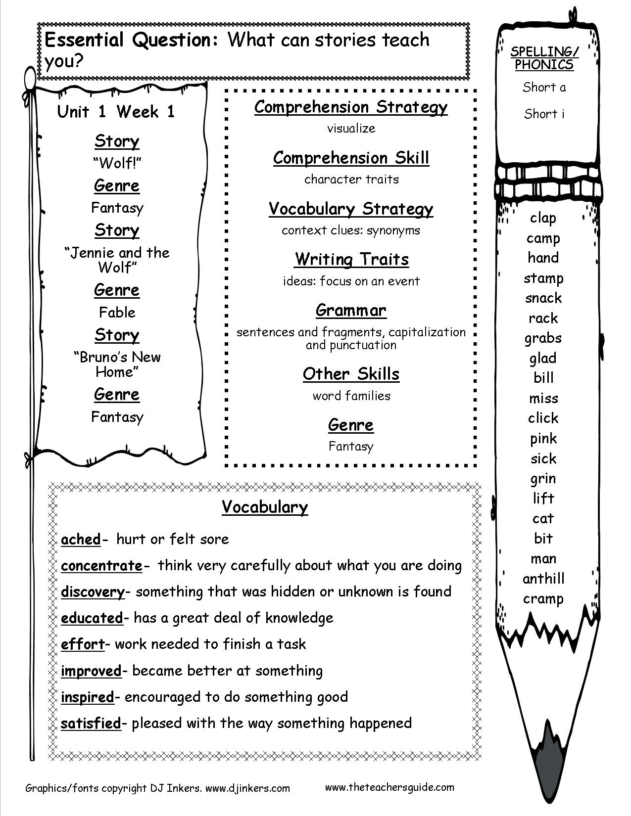 Mcgraw-Hill Wonders Third Grade Resources And Printouts - Printable Crossword Puzzles For Third Graders