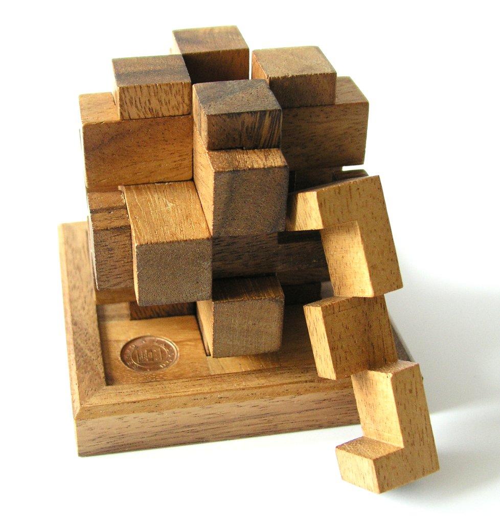 Mechanical Puzzle - Wikipedia - Printable Burr Puzzle