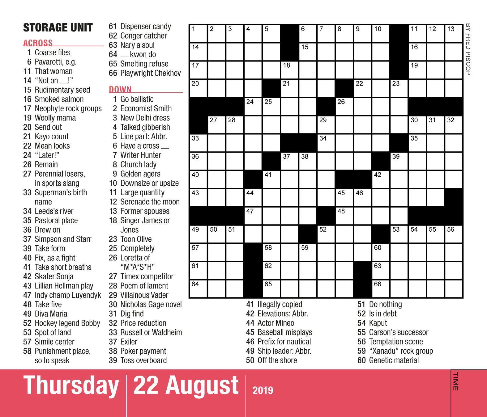Mensa 10-Minute Crossword Puzzles Page-A-Day Calendar 2019 Calendar - Printable Mensa Puzzles