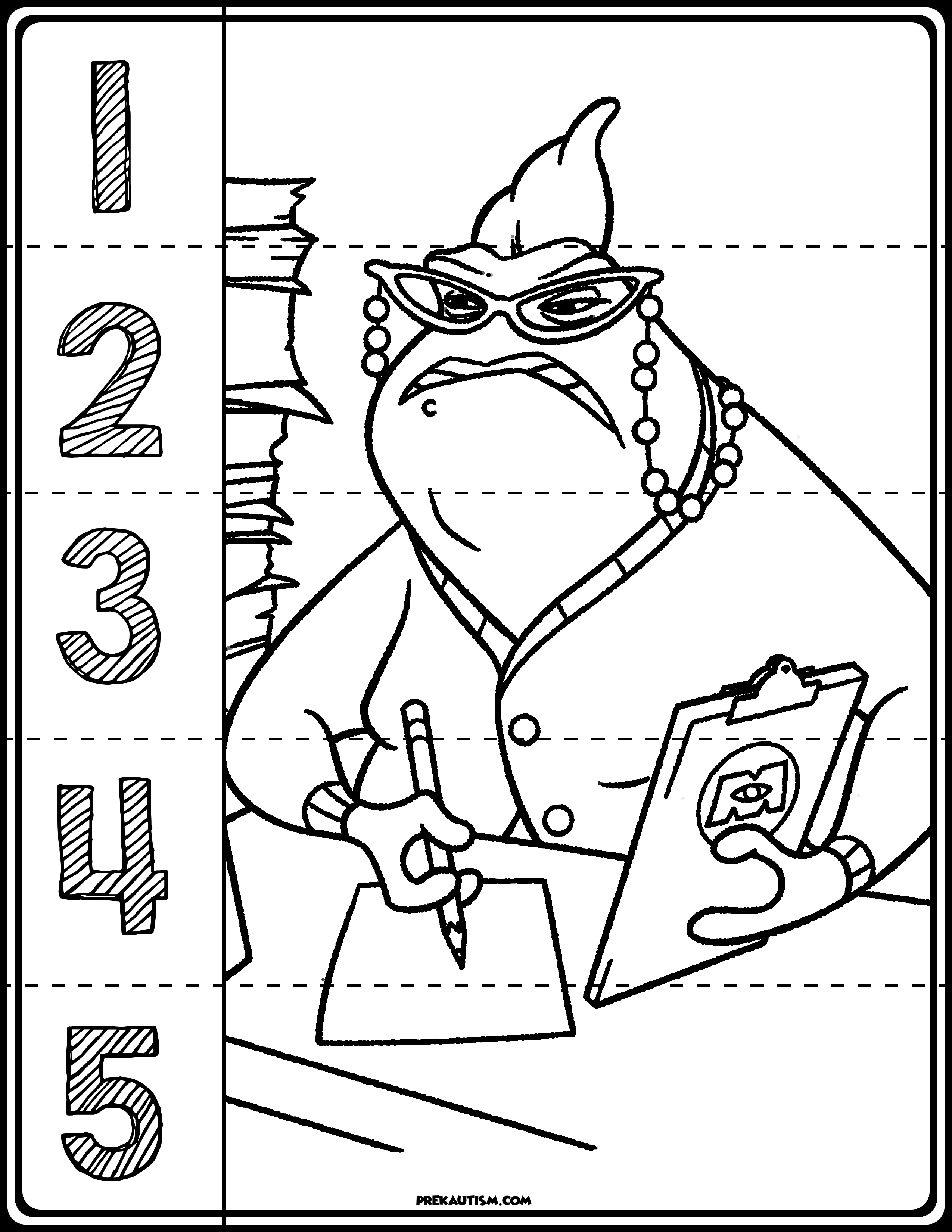 Monster Inc. Number Puzzles | My Tpt Store | Printable Math - Printable Monster Puzzle