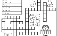 Printable Crossword Puzzle For Grade 5