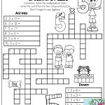 Multiplication Facts Crossword Puzzle  Third Grade Students Love   Printable Crossword Puzzles For 3Rd Graders