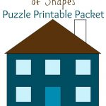 My House Is Made Of Shapes Puzzle Printable Packet: Pre Writing   Printable House Puzzle