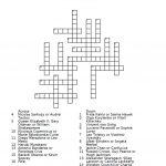 Nationalities Crossword Puzzle Worksheet   Free Esl Printable   Crossword Puzzles For Esl Students Printable