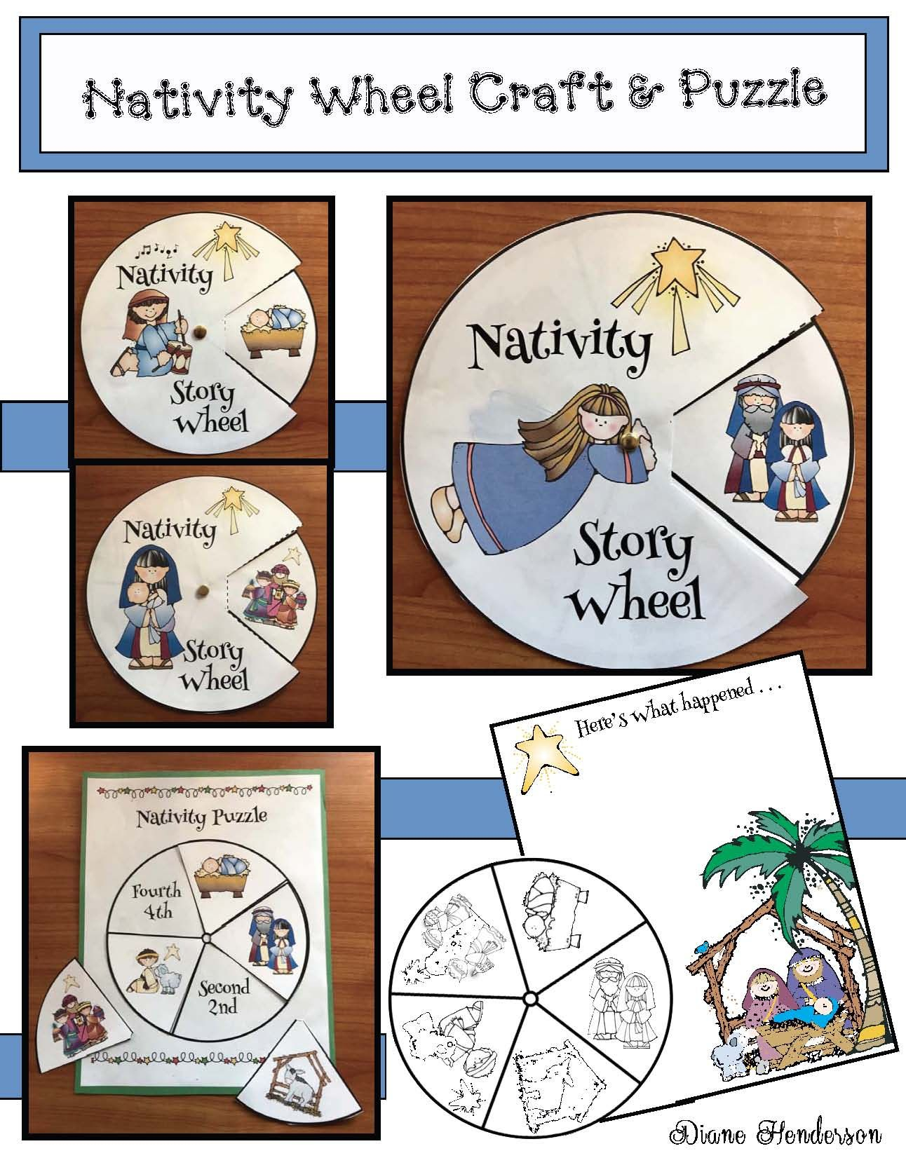 Nativity Craft Sequencing & Retelling The Story | December School - Printable Nativity Puzzle