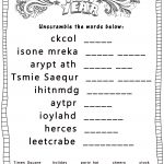 New Year's Printable Activities :: Entertain Your Kids With 4 New   Printable Unscramble Puzzles