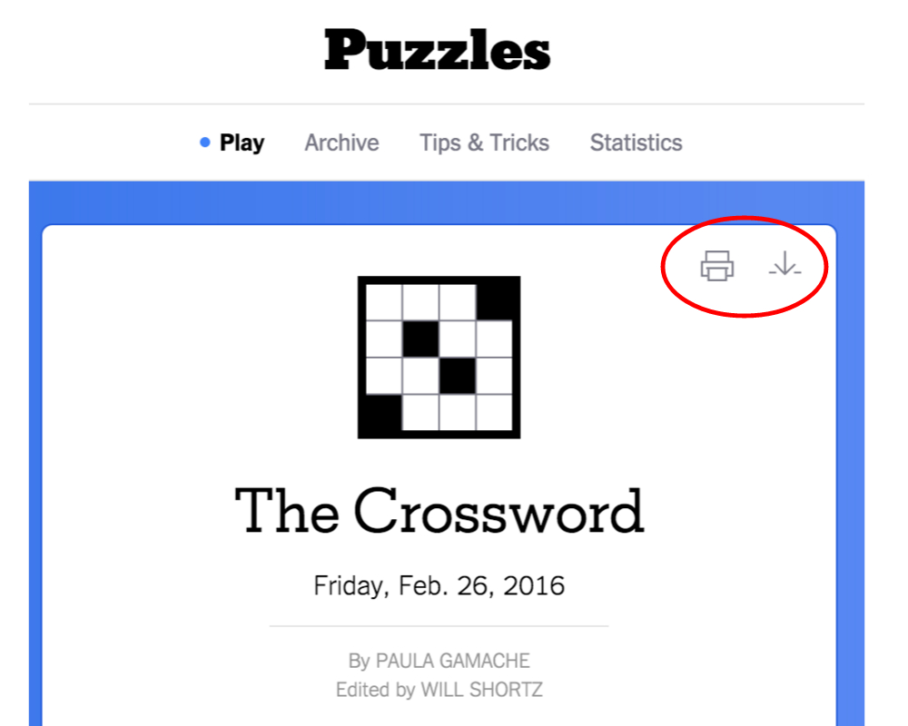 New York Times Crossword – Help - Print My Puzzle