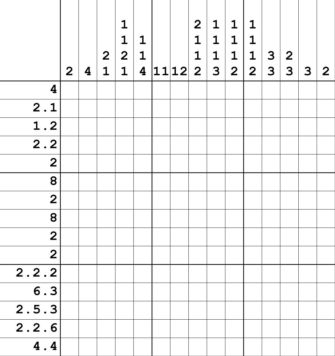 Nonograms - Printable Hanjie Puzzle