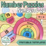 Number Puzzles 1 20   Ridgy Didge Resources   Printable Rainbow Number Puzzle