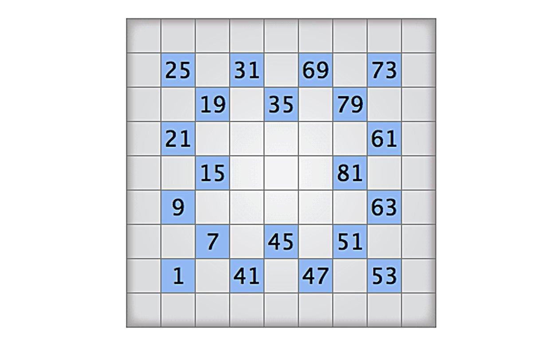 Numbrix 9 - May 1 2009 - Printable Numbrix Puzzles 2009