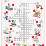 Occupations Crossword Puzzle Worksheet   Free Esl Printable   Crossword Puzzle Printable Worksheets