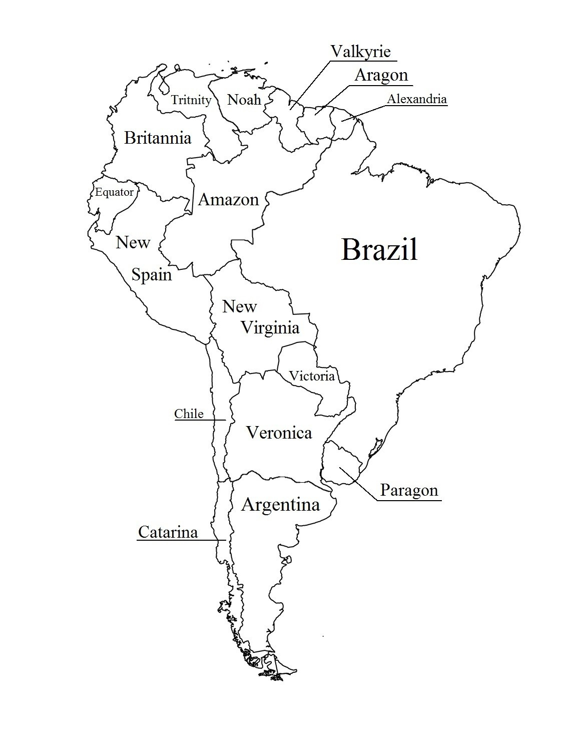 Outline Map Of South America Printable With Blank North And For New - Printable Puzzle South America