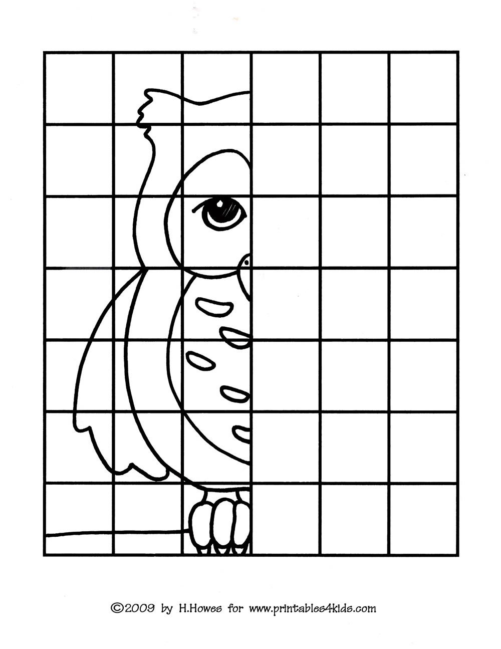 Owl Complete The Picture Drawing : Printables For Kids – Free Word - Printable Drawing Puzzles
