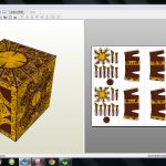 Papercraft .pdo File Template For Hellraiser – Puzzle Box.   Printable Hellraiser Puzzle Box