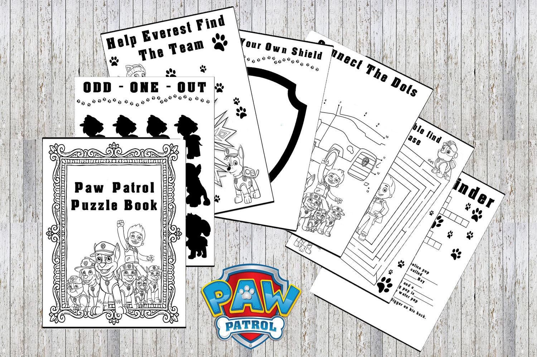 Paw Patrol Printable Puzzle Quiz Colouring Book Ideal | Etsy - Printable Puzzle Quiz