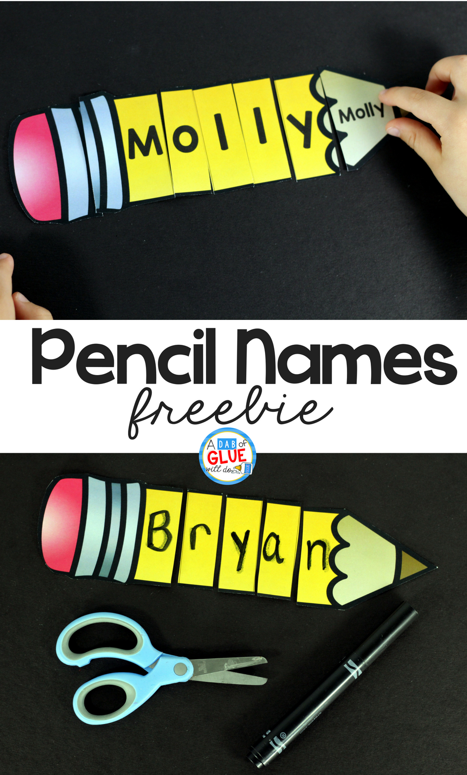 Pencil Names - Name Building Practice Printable - - Printable Name Puzzles For Preschoolers