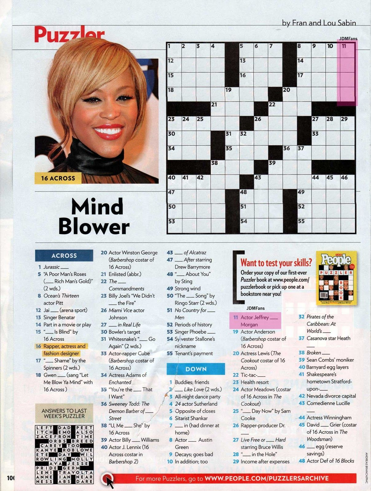 People Magazine Crossword Puzzles To Print | Puzzles In 2019 - Printable Celebrity Crossword Puzzle