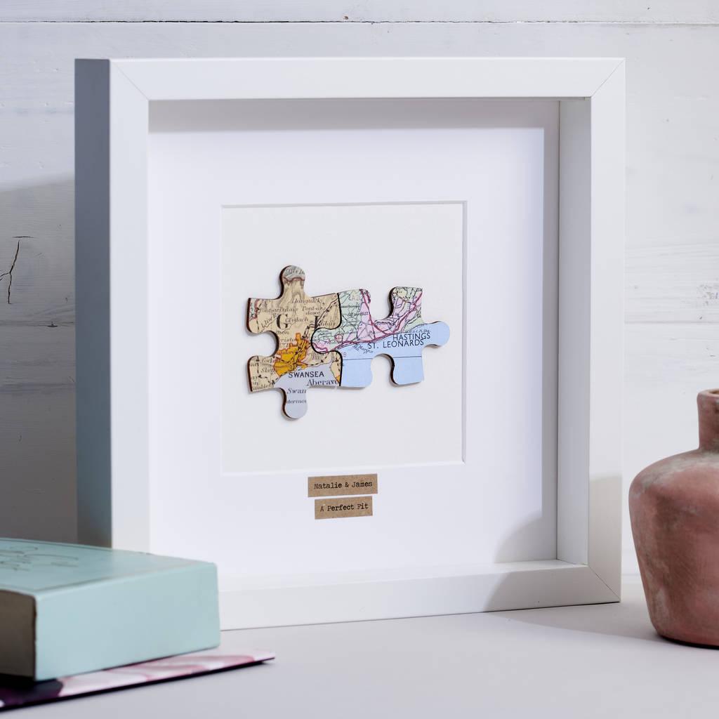 Personalised Anniversary Jigsaw Map Pictureposh Totty Designs - Print Jigsaw Puzzle Singapore