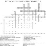Physical Fitness Crossword Puzzle Crossword – Wordmint – Printable Wellness Crossword Puzzles