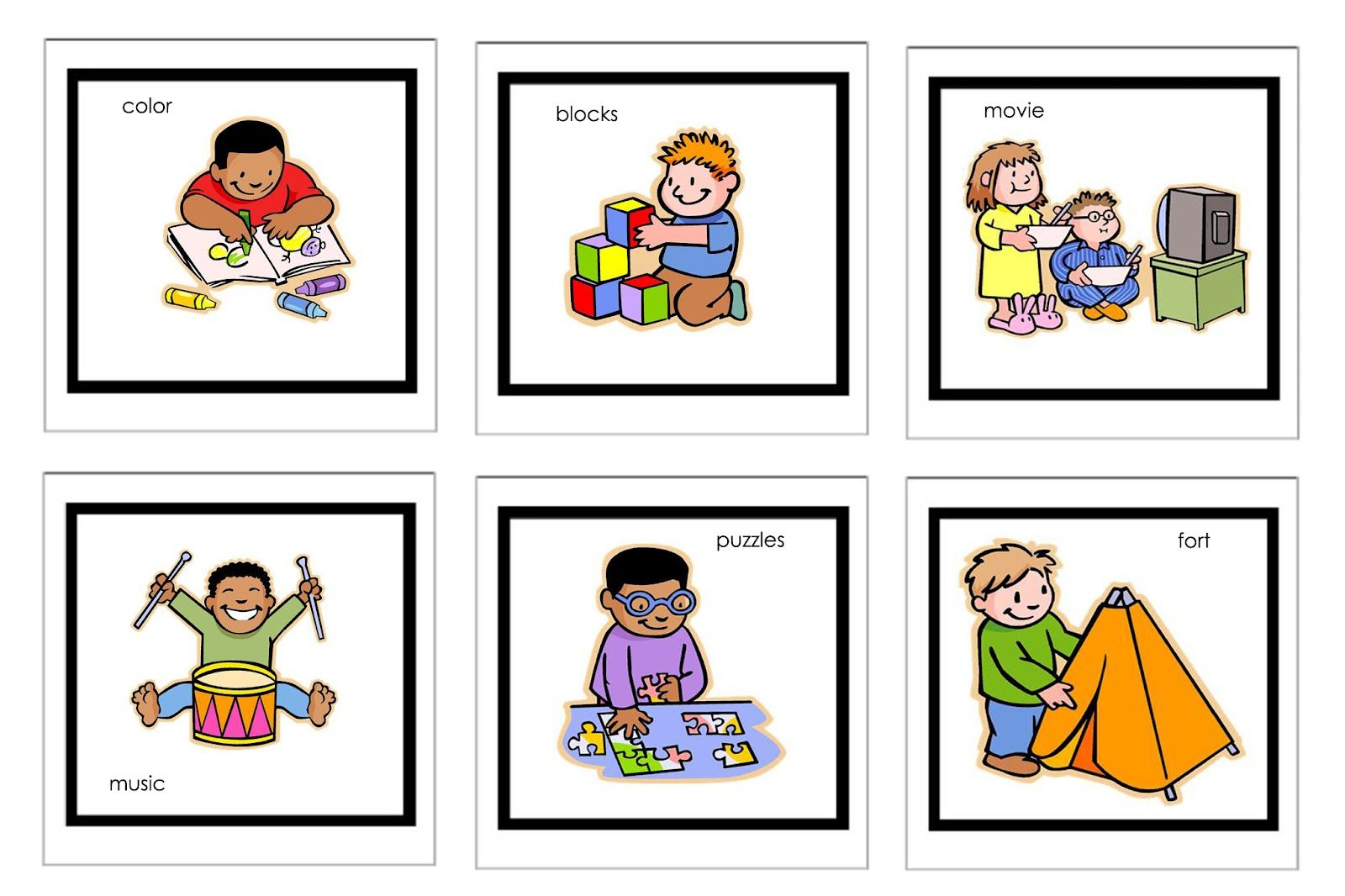 Picture Cards For Nonverbal Children | Free Printable Visual - Free Printable Visual Puzzles