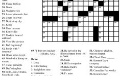 Crossword Puzzle And Answers Printable