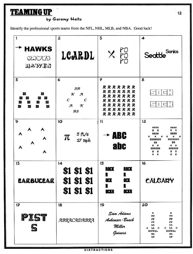 Pinjulie Batchos On Wacky Wordies   Brain Teasers Riddles, Brain - Printable Wordles Puzzles