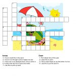 Pinsherry Disney On Education | Puzzles For Kids, Crossword   Printable Crossword Puzzles Summer Holidays