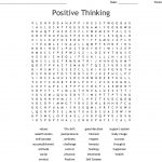 Positive Thinking Word Search   Wordmint   Printable Wellness Crossword Puzzles