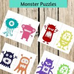 Pre K Monster Printable Puzzles For Preschool Or Toddler Busy | Etsy   Printable Puzzle Toddler