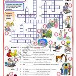 Present Simple   Present Continuous Crossword   Esl Worksheetmpotb   Printable Crossword Puzzles Simple Present