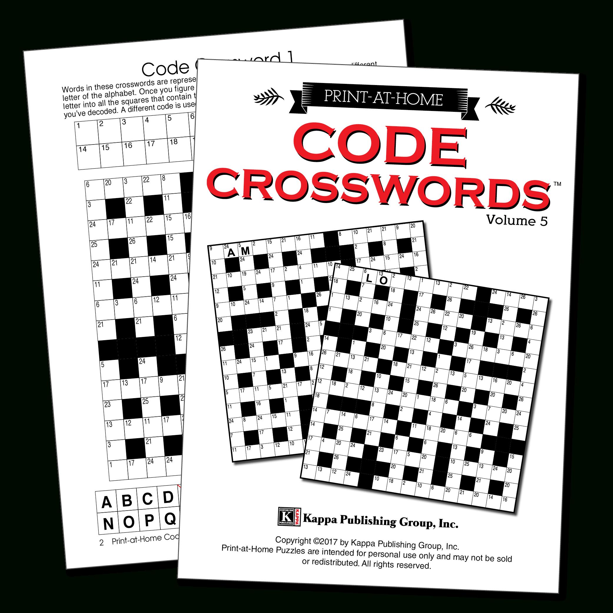 Print-At-Home Code Crosswords – Kappa Puzzles - Printable Variety Puzzles
