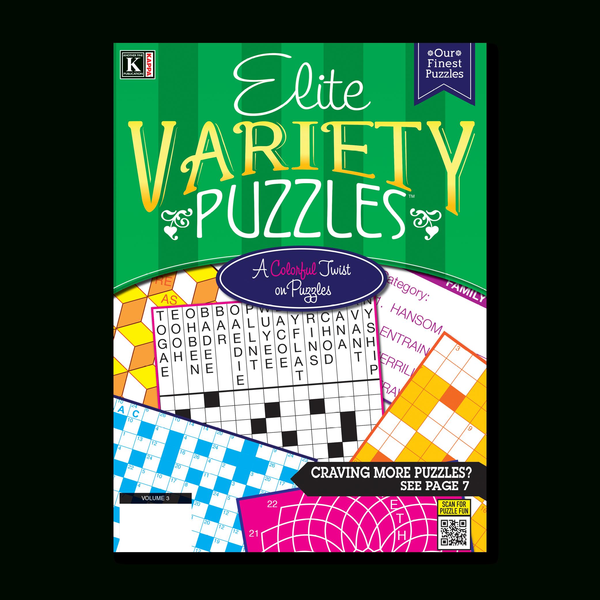 Print-At-Home Elite Variety Puzzles – Kappa Puzzles - Printable Variety Puzzles