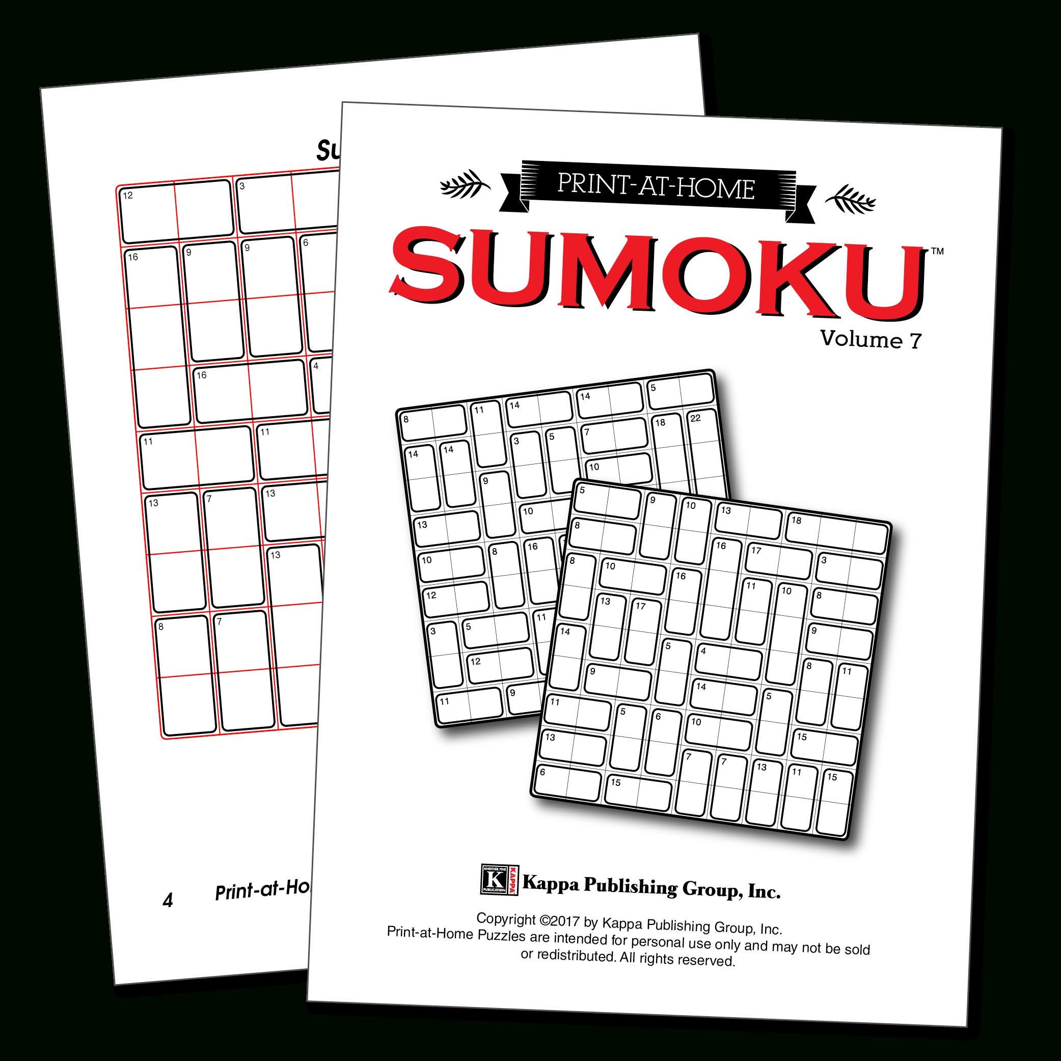 Print-At-Home Sumoku – Kappa Puzzles - Free Printable Variety Puzzles Adults