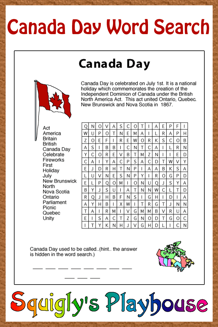 Print This Free Learning Resource For Your Kids. This Canada Day - Print Puzzle Canada