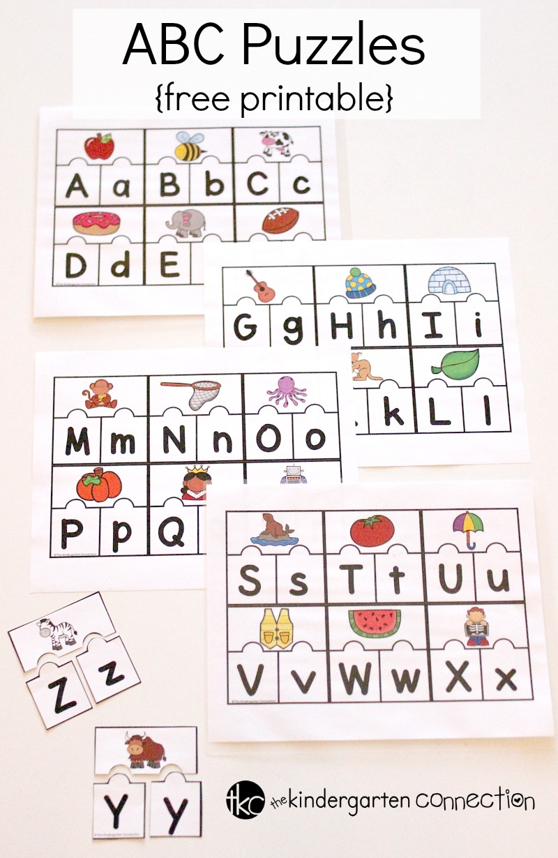 Printable Abc Puzzles For Pre-K And Kindergarten - Printable Puzzles To Do At Work