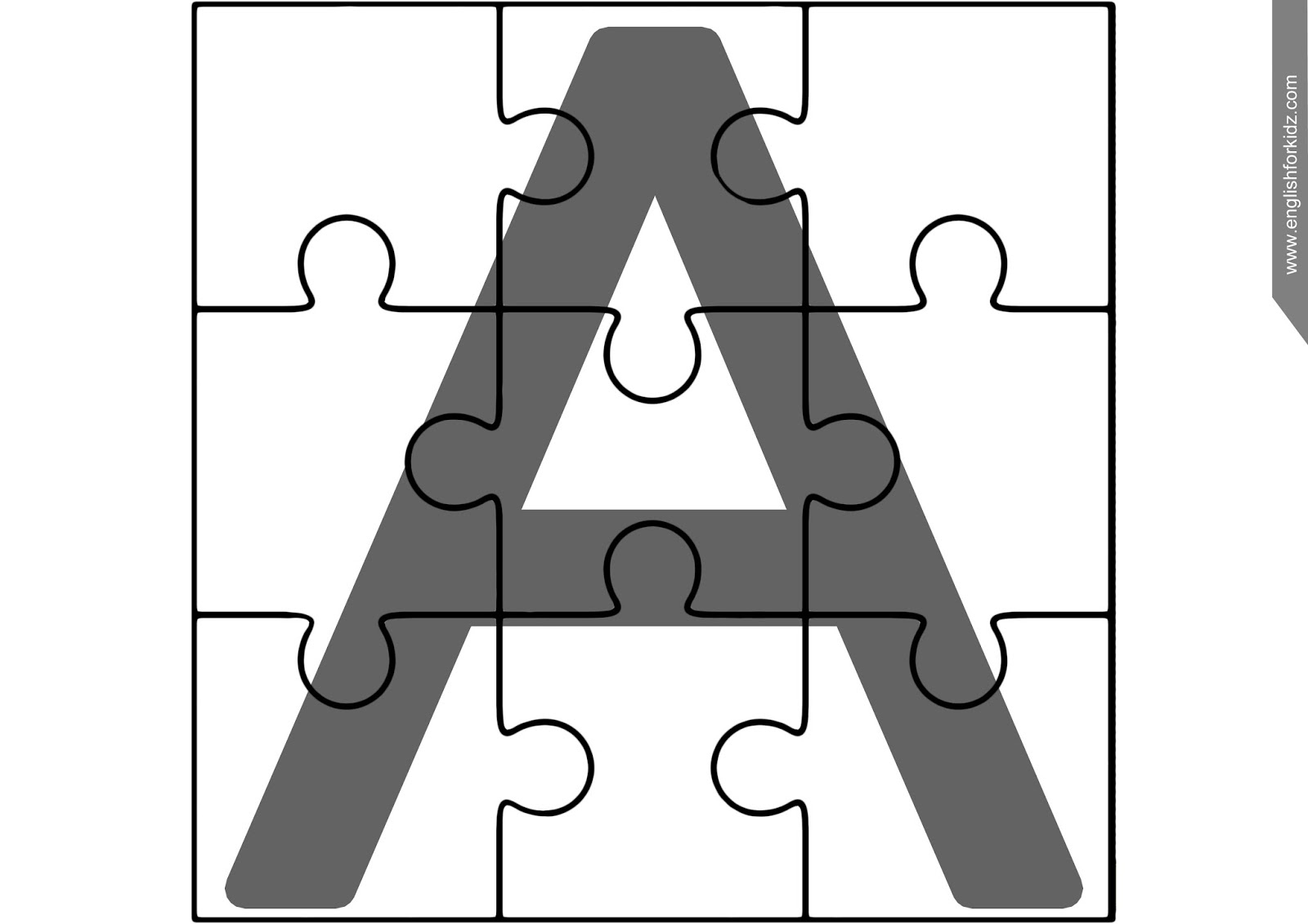 Printable Abc Puzzles - Printable Letter Puzzle