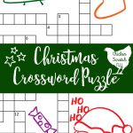 Printable Christmas Crossword Puzzle With Key   Christmas Crossword Puzzle Printable With Answers