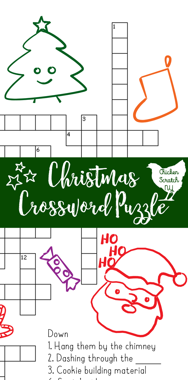 Printable Christmas Crossword Puzzle With Key - Printable Xmas Crossword Puzzles