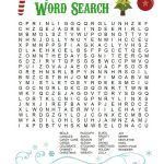 Printable Christmas Word Search For Kids & Adults   Happiness Is   Printable Xmas Puzzles