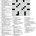 Printable Crossowrd Puzzles Chemistry Tribute Crossword Puzzle Chem   Printable Crossword Puzzles For Teens