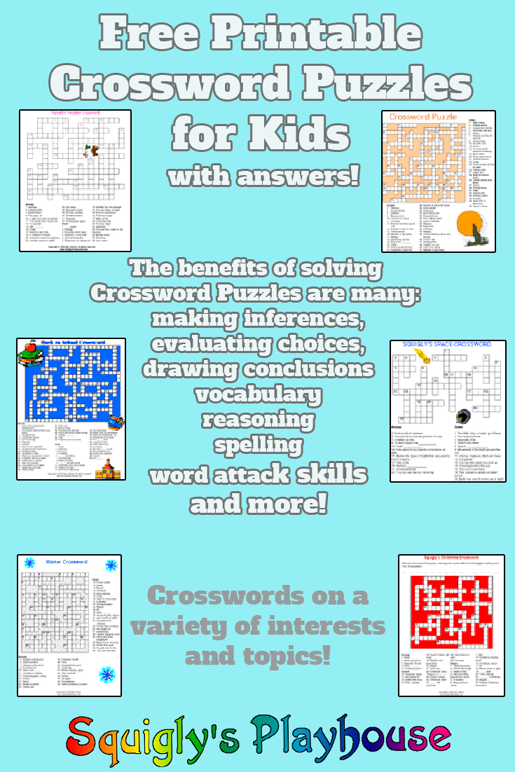 Printable Crossword Puzzles For Kids   My Classroom   Printable - Printable Variety Puzzles