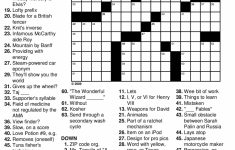 Printable Crossword Puzzles Medium With Answers