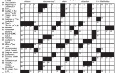 La Times Printable Crossword Puzzles November 2017