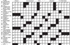 La Times Printable Crossword Puzzles November 2017