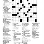 Printable Crossword Puzzles La Times Crossword Puzzle La Times   La Times Printable Crossword Puzzles November 2017