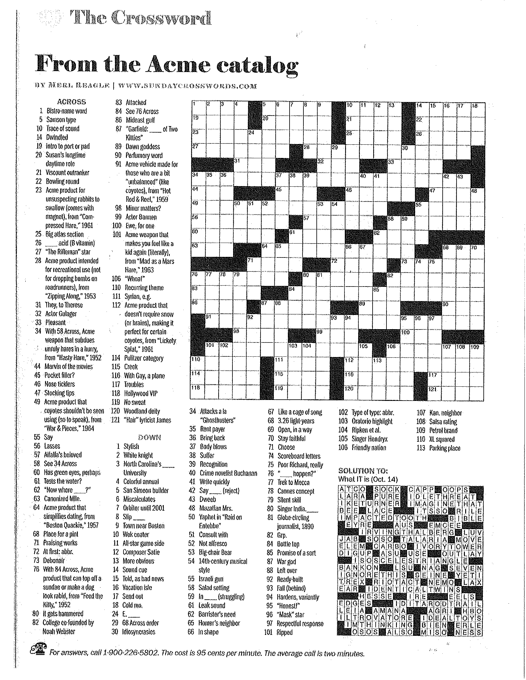 Printable Crossword Puzzles Merl Reagle   Download Them Or Print - Printable Crossword Puzzles Merl Reagle
