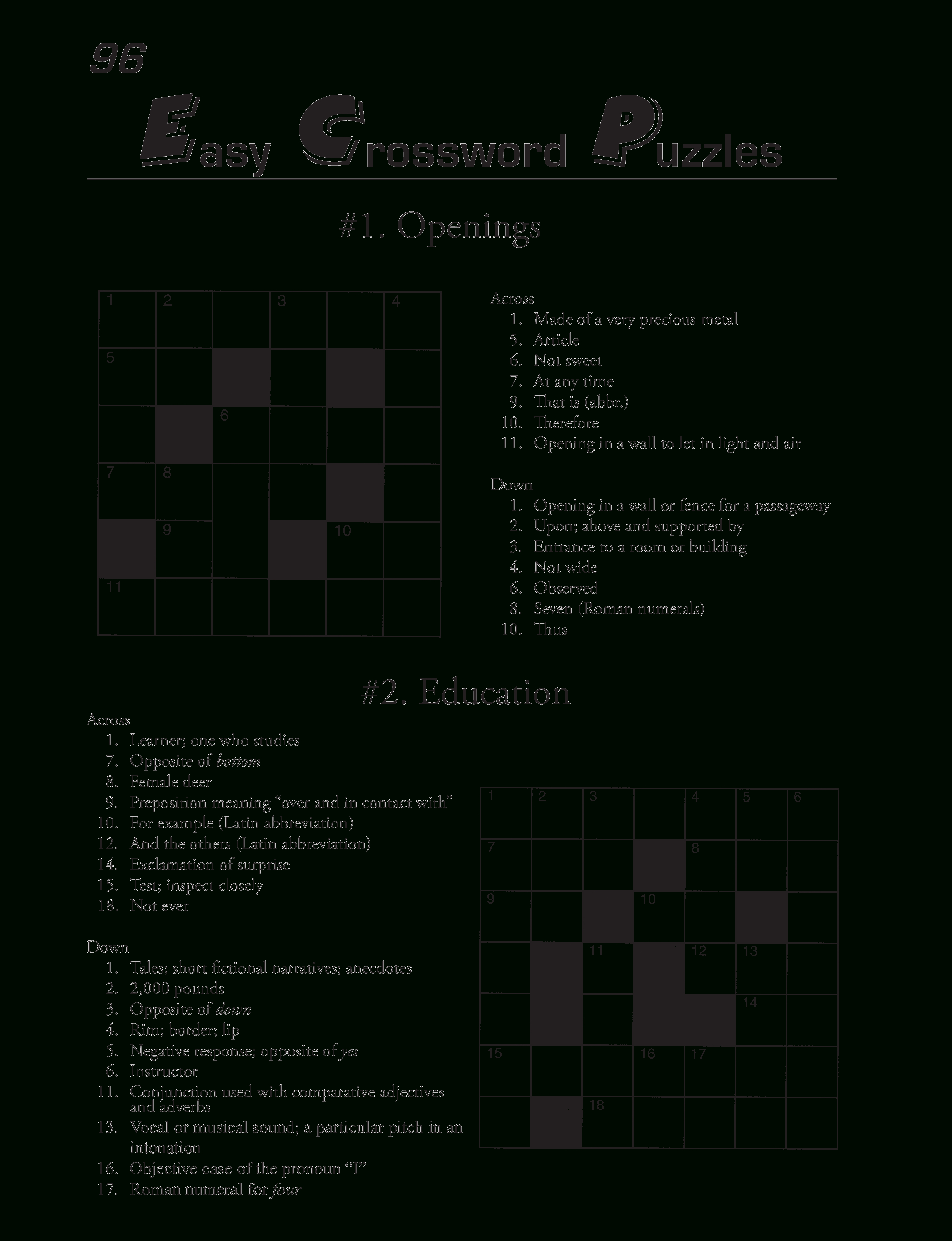 Printable Crossword Puzzles Template | Templates At - Download Printable Crossword Puzzle