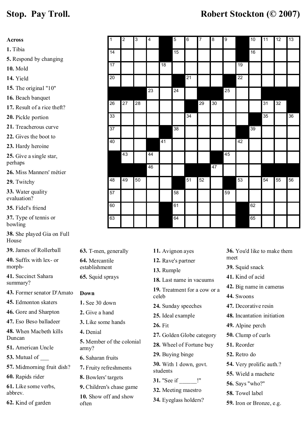 Printable Crosswords About Friendship Trials Ireland - Free Printable Variety Puzzles Adults